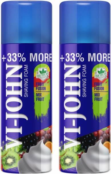 VI-JOHN Shave Foam- Fruit fusion (Pack of 2)