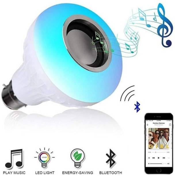 CartBug Led Bulb with Bluetooth Speaker with Super bass Music Light Bulb + RGB Light Ball Bulb Colorful Lamp with Remote Control for Home,Bedroom Smart Bulb