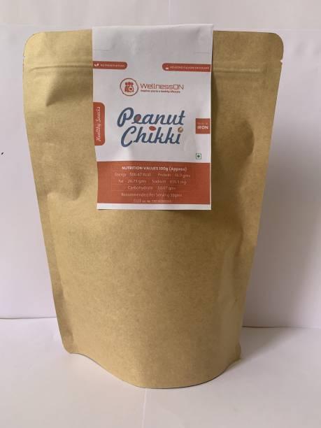 WellnessOn Peanut Chikki - 400gms each (Pack of 3)