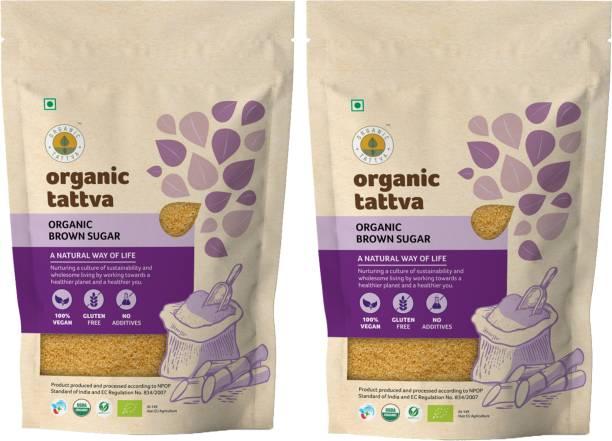 Organic Tattva ,Organic Brown Sugar | 100% Vegan, Gluten Free and NO Additives | Unrefined, Unprocessed Raw Sugar | Rich with Phosphorus, Calcium, Iron and Essential Nutrients | Sugar