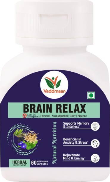 vaddmaan Brain Relax Brahmi Shankhpushpi Ashwagandha Giloy Mind Rejuvenation Cognitive Wellness