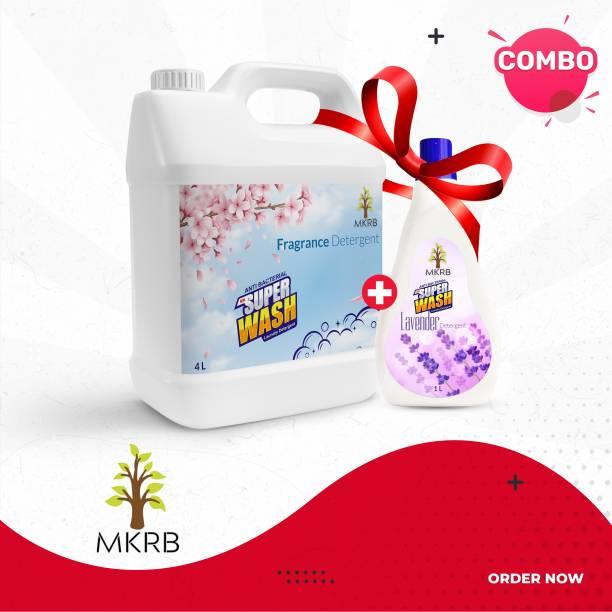 MKRB Detergent 4L Regular Fragrance with Detergent 1L Regular Lavender Regular