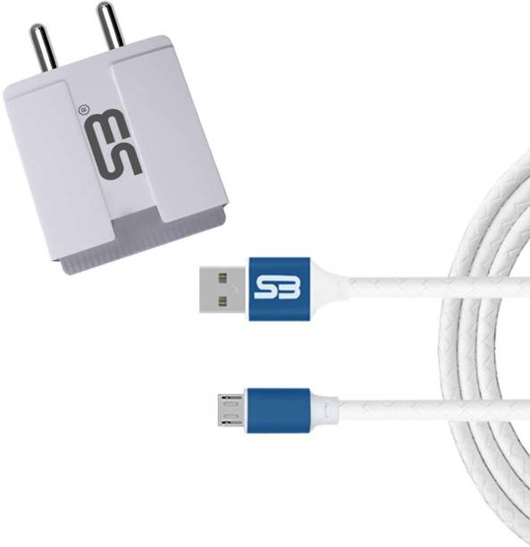 shopbucket 3.4A Double USB Port Fast Charger BIS Certified, Auto-detect Technology, (white) with 1.2 Meter Micro USB Data Cable | High Speed Charging | Tangle Free | Unbreakable | Cable 2.4A (Blue) Travel Charging Power Adapter Compatible with Xiaomi Redmi Note 6 Pro, Xiaomi Redmi 7, Xiaomi Redmi 5A, Xiaomi Redmi Note 4. 5 W 3.4 A Multiport Mobile Charger with Detachable Cable