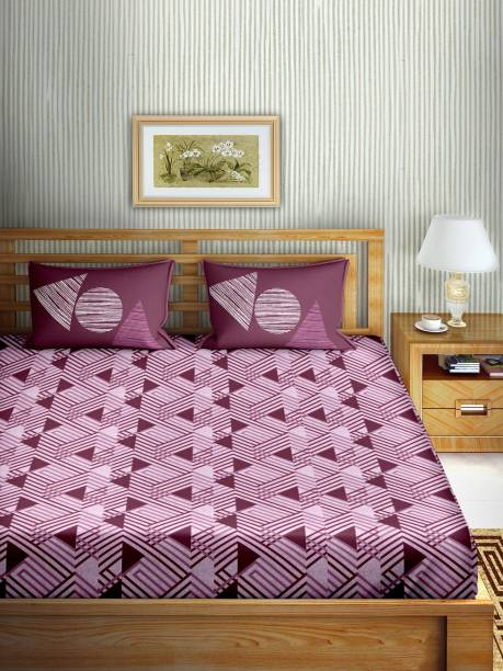 BELLA CASA 160 TC Cotton Double Printed Bedsheet