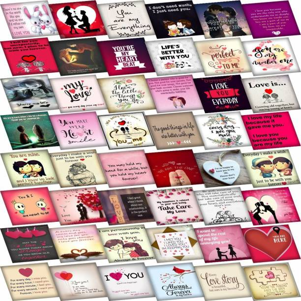 PartyballoonsHK Set of 48 Love Cards For Explosion Box or Other DIY Love Greeting Cards 3X3 Inches Greeting Card
