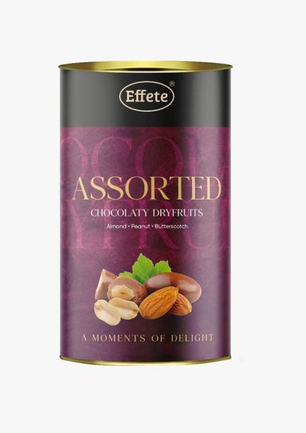 Effete Chocolate Dryfruits - Almonds, Peanut & Butterscotch | Mix Chocolates | Chocolate | Roaseted Choco Almonds,Peanuts (96 Grams) Caramels
