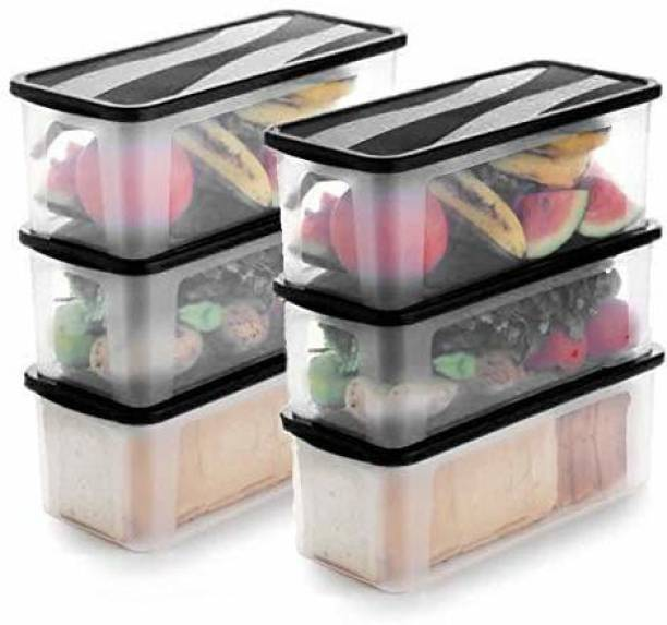 Flipkart SmartBuy Premium Quality Unbreakable Fridge Container / Plastic Jar / Grocery Containers / Storage Containers / Container sets / Storage Jar / Egg Container / Tea Coffee & Sugar Container / Pickle Container / Utility Container / Masala Box / Freezer Storage Box / Fridge Storage Containers / Plastic Containers / Kitchen Containers / Kitchen Storage Box Idle for Food, Grain, Rice, Pasta, Spices And Pulses Container / Medical Box Each Container  - 4000 ml Plastic Bread Container