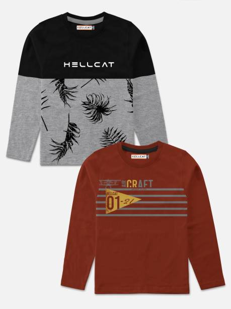 Hellcat Boys Graphic Print Cotton Blend T Shirt