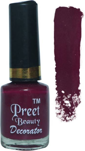 PreetBeauty Super Stay Nail Enamel Nail Polishes Long Lasting Nail Paint Dark Pink