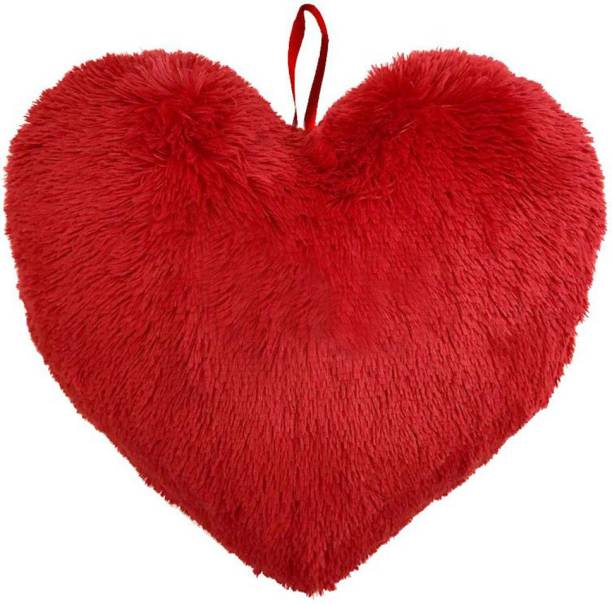 Gehna by RTS Heart Shape Polyester Fibre Solid Cushion Pack of 1