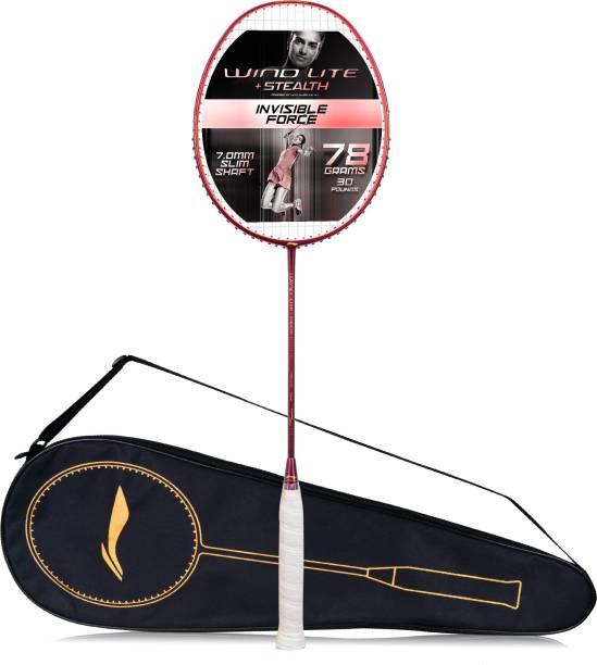 LI-NING Wind Lite Stealth Purple, Orange Strung Badminton Racquet