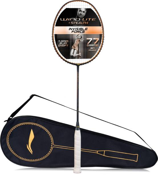 LI-NING Wind Lite Stealth Black Strung Badminton Racquet