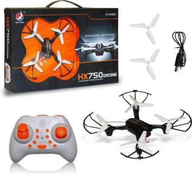 Radha Kripa HX750 Drone 2.4 Ghz 6 Channel Remote Control Quadcopter Without Camera for Kids