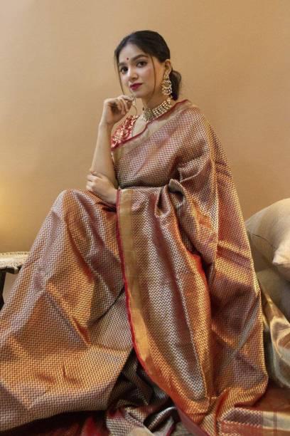 Toriox Printed, Self Design Fashion Art Silk, Silk Blend Saree