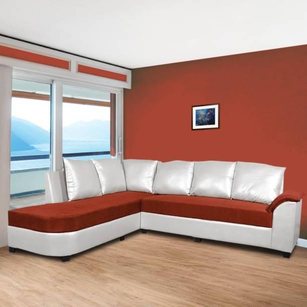 ELTOP Corner Home Furniture L shape Fabric 5 Seater  Sofa