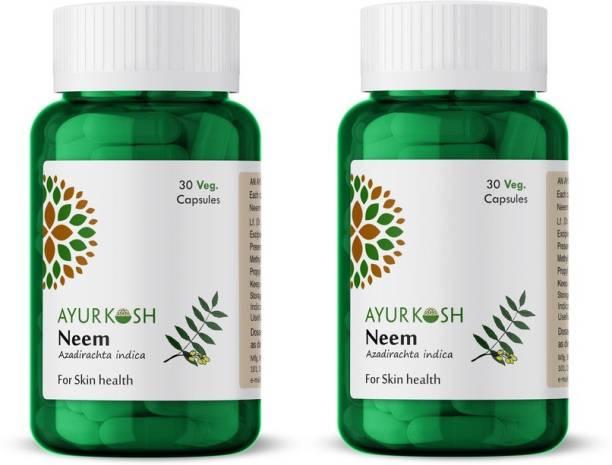 Ayurkosh Neem Extract Capsules Natural and Powerful Blood Purifier