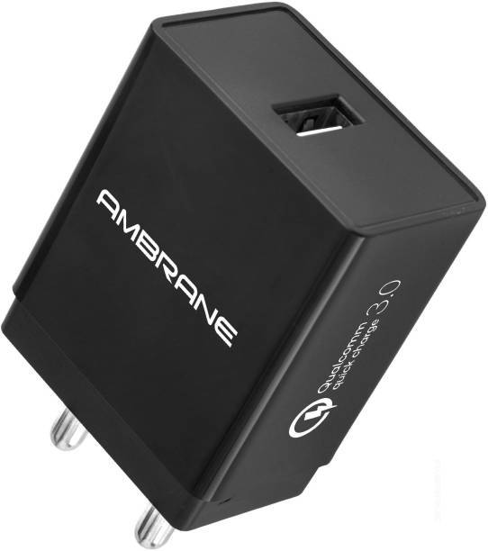 Ambrane AQC-56 18 W 3 A Mobile Charger
