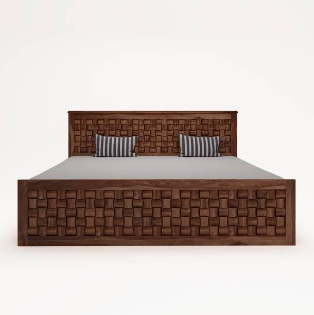 PlusOne Flamingo Sheesham Wood Bed With Hydraulic - king Size Solid Wood King Hydraulic Bed