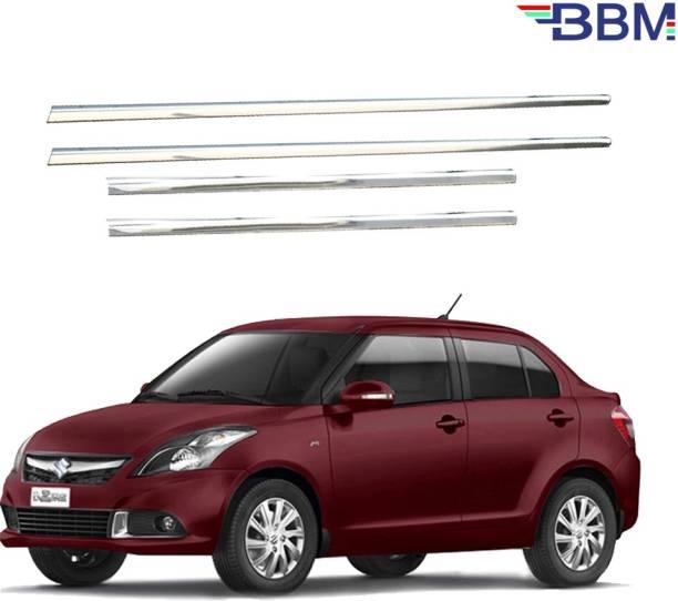 BBM Car Window Lower Garnish/Chrome line Beading/Silver molding Stainless Steel Compatible with [Set of 4] 2015 2016 Suzuki Glossy, Chrome Maruti Swift Dzire LDI Side Garnish