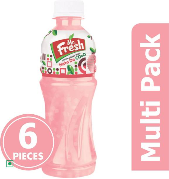 MR FRESH LITCHI DRINK WITH NATA DE COCO PACK OF 6