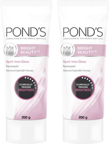 PONDS Bright Beauty Spot-less Glow  With Vitamins, Removes Dead Skin Cells & Dark Spots, Double Brightness Action, All Skin Types Face Wash