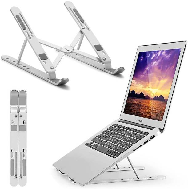 Pick Ur Needs Laptop Riser Stand Portable Computer & Notebook Stand Holder for Desk Foldable Laptop Lift & Height Adjustable  Gaming Accessory Kit