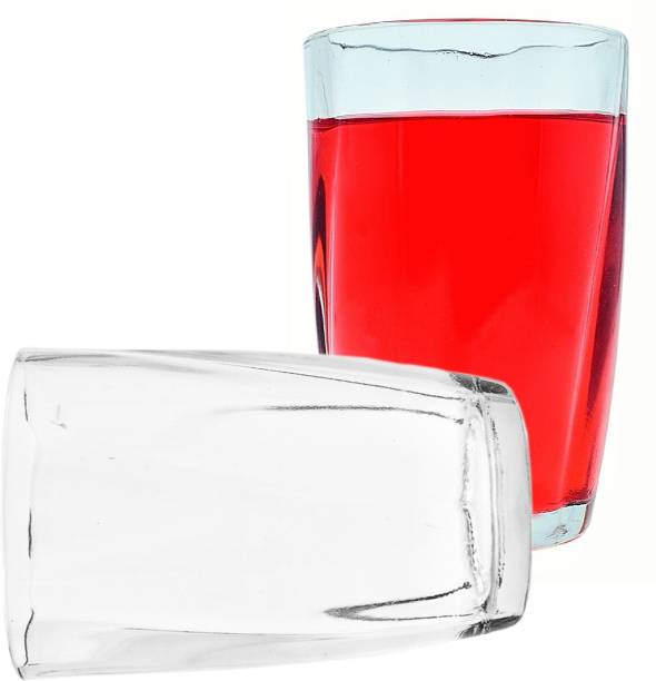 mittoo (Pack of 2) New Transparent Water/Juice Glass Set (Pack Of 2)-MR41 Glass Set