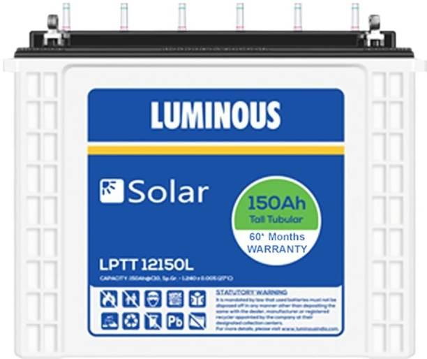 LUMINOUS Solar LPTT12150L 150Ah Tall Tubular Battery 60* Months Warranty Tubular Inverter Battery