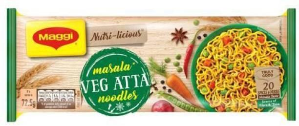 Maggi Nutri licious Atta Masala Instant Noodles Vegetarian (290 g)-(1PKT) Instant Noodles Vegetarian