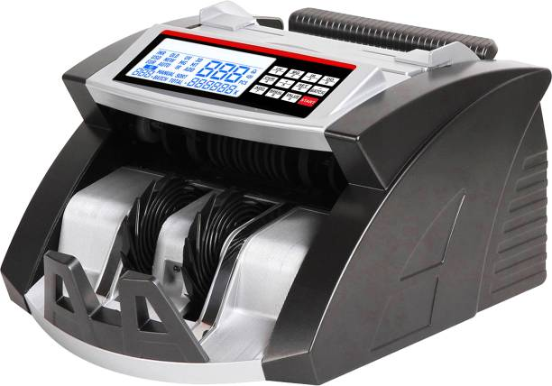 Drop2Kart Automatic Cash Counter - Counts All Indian Currency, UV/MG/MT/IR Sensors, HeavyDuty Motor, FakeNote Alarm, Multiple Operation Modes Note Counting Machine