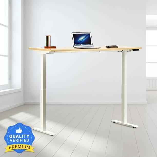 Featherlite Motorized Height Adjustable Engineered Wood Office Table