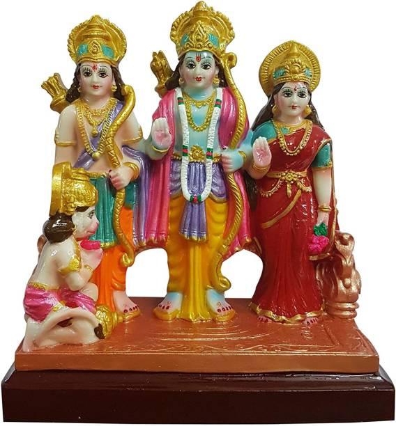 Kitlyn Ram Darbar Statue Diwali Pooja, Ram Statue, Ram Ji Murti, Sita Statue, Sita Ji Murti, Laxman Statue, Laxman Murti, Hanuman Statue,Hanuman ji Murti (Home Temple poojan Use,Office Temple Use,gifted use) Decorative Showpiece  -  21 cm