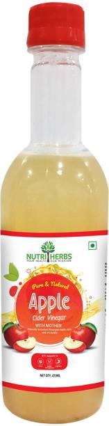 Nutriherbs Apple Cider Vinegar With Mother - Natural Raw & Unfiltered Vinegar