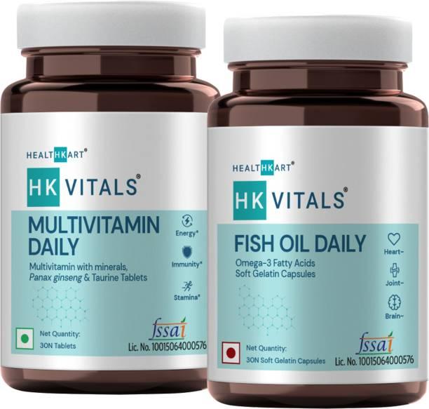 HEALTHKART HK Vitals Fish Oil Daily�+ Multivitamin Daily