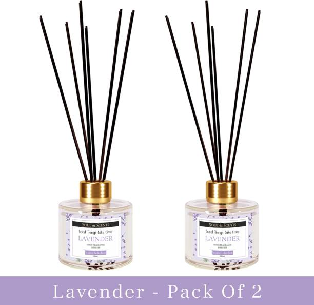 Soul & Scents Lavender Home, Office Fragrance Diffuser Set, Aroma Oil