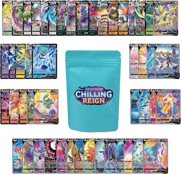 AncientKart Pokemon cards Sword and Shield Chilling Reign V & NMAX Cards Set of 49