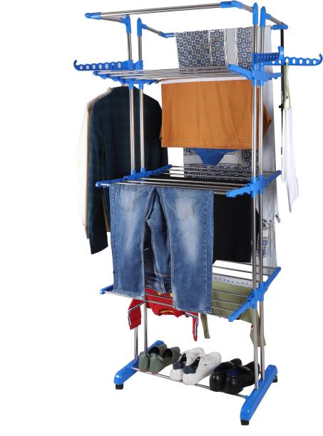 MFY – MADE FOR YOU Steel Floor Cloth Dryer Stand SS3Layer003Jumbo
