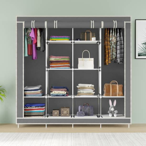 MS MODSTYLE 12 Shelves Cloth Rack PP Collapsible Wardrobe