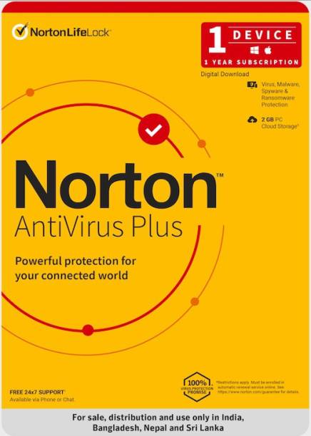Norton 1 PC 1 Year Anti-virus (Email Delivery - No CD)