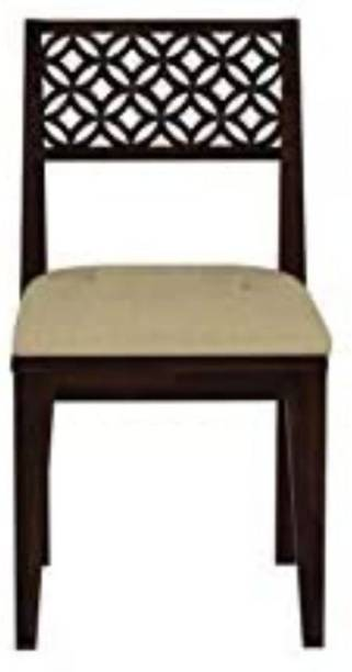 PR FURNITURE Premium Quality Solid Wood Dining Chair Set Of Six Cushion :- Cream Solid Wood Dining Chair