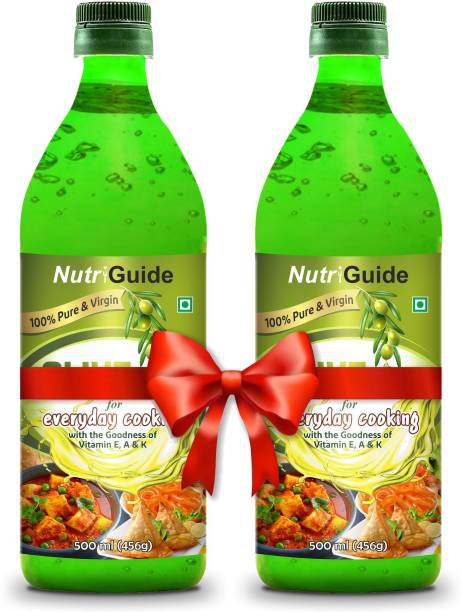 Nutri Guide Extra Virgin Olive Oil Plastic Bottle (Pack of 2) Olive Oil Plastic Bottle