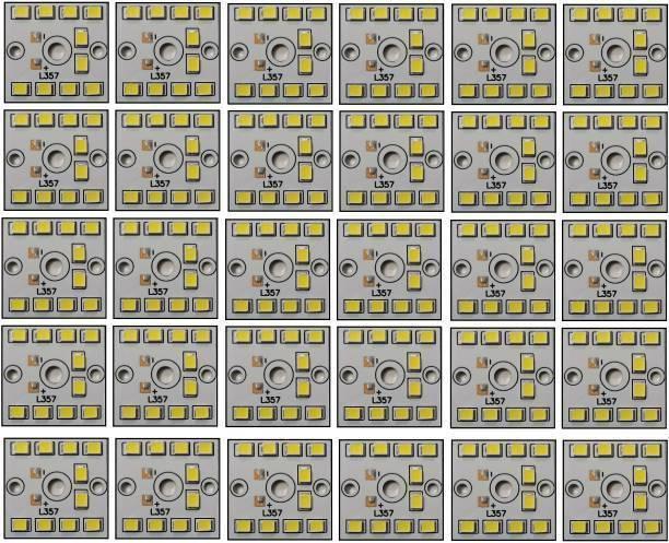 ROOPREKHA 30 Pcs 9 Watt MCPCB LED Bulb Raw Material CoolDay WHITE Color Light Electronic Hobby Kit