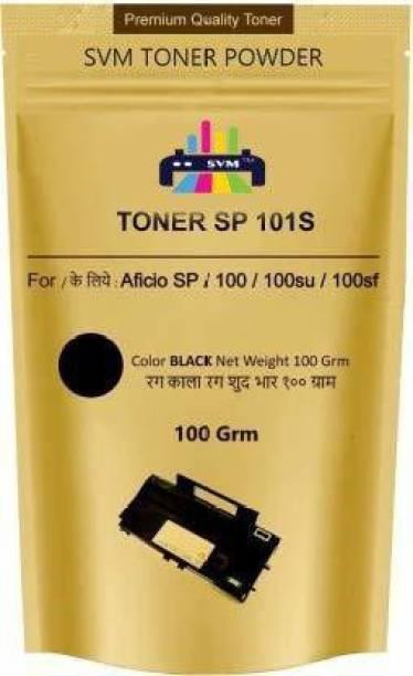 SVM PREMIUM Toner Powder Pack Of 1 Use in Cartridges SP100/111/200/210/212/300/310/325fnw/2050/2550/3400/3410/3500/3510 etc ( 100 GRAM ) Black Ink Toner Powder