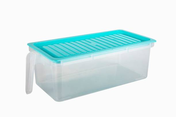 VANSI Grocery Container/Dry Storage Container/Plastic Grocery Container/Air Tight Food Grade Food Storage/Unbreakable Container/Sky Blue Container Containers Kitchen Rack