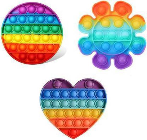 deoxy Pop It Fidget Toys,Push Pop Bubble Fidget Sensory Toy,Autism Special Needs Silicone Stress Relief Toy,Great Fidget Toy Sensory Toys Novelty Gifts for Girls Boys Kids Adults (Square Rainbow) (Multicolor) Educational Board Games Board Game