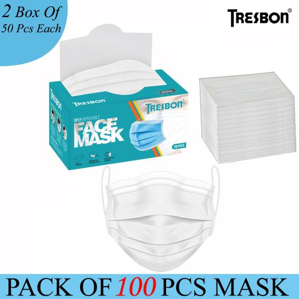 Tresbon Face Mask For Men Surgical Mask With Melt Blown Fabric Layer
