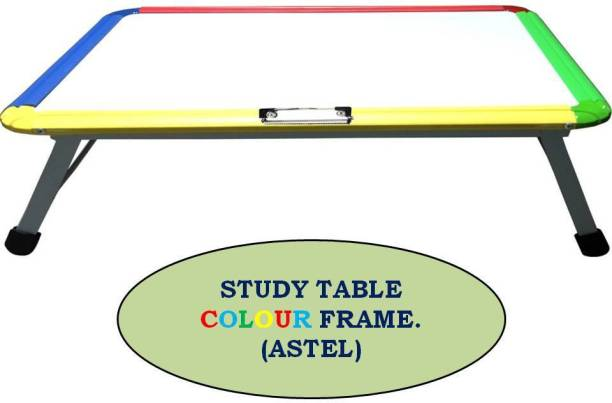 Allark Multipurpose Ceramic Writing Whiteboard Foldable with Pen, Duster and Paper Holding Clip Table (Stainless Steel) (Multicolor, Small) For Kids , Adults & Work from Home Employees. Metal Study Table