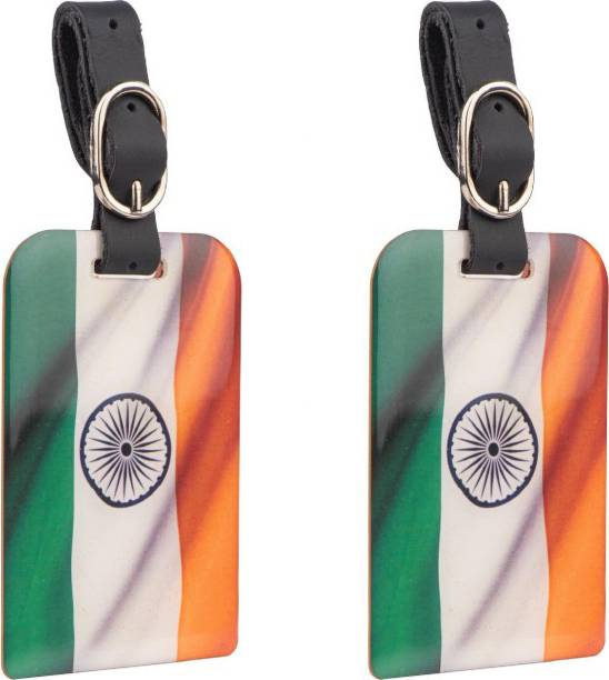 Tag8 Tiranga Bag Security Tag (Pack of 2 )   Indian Flag Luggage tag with Airport Tracer Code Luggage Tag