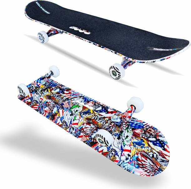 "Jaspo Destructor Graffiti 31"" X 8 "" Inch Fiber Skateboards Suitable for Age Group Above 8 Years 8 inch x 31 inch Skateboard"