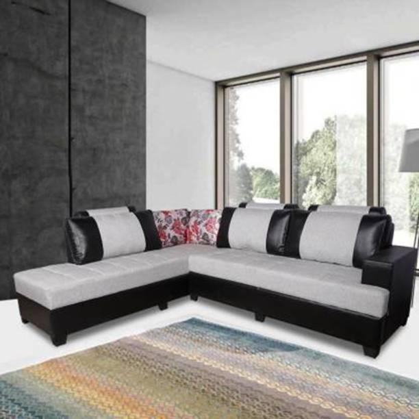 ELTOP Furniture Sofa Corner L Shape Fabric 6 Seater  Sofa